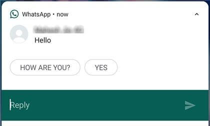 Reply to a Message from Notifications